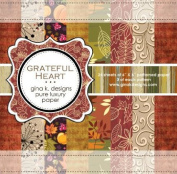 Gina K. Designs 6 X 6 Patterned Paper Pack- Grateful Heart