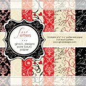 Gina K. Designs 6 X 6 Patterned Paper Pack- Love Letters