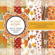 Gina K. Designs 6 X 6 Patterned Paper Pack- Sun-kissed Autumn