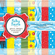 Gina K. Designs 6 X 6 Patterned Paper Pack- Fishy Fiesta