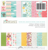 Pebbles 36-Sheet Garden Party Paper Pad, 15cm by 15cm