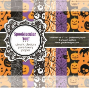 Gina K. Designs 6 X 6 Patterned Paper Pack- Spooktacular You