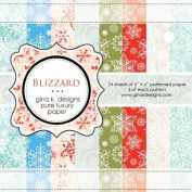 Gina K. Designs 6 X 6 Patterned Paper Pack- Blizzard