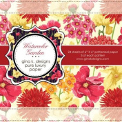 Gina K. Designs 6 X 6 Patterned Paper Pack- Watercolour Garden