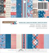 Pebbles 36-Sheet Americana Paper Pad, 15cm by 15cm