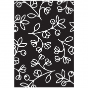 HOT FUDGE Silhouette Flower Background Wood Rubber Stamp
