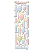 Cloud 9 Rain Dot Dimensional Epoxy Stickers - Birthday