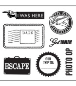 K & Company Clear Stamps - Happy Trails