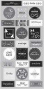 Wedding ABC Chipboard Scrapbook Stickers