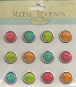 Super Bright Tiny Words Metal Accents Scrapbook Stickers
