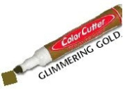 ColorCutter - Cut & Colour Finished Edges at the Same Time - Glimmering Gold