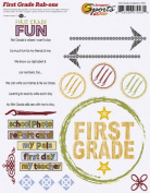 First Grade Academics Rub-ons for Scrapbooking