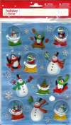 FROSTY THE SNOWMAN SNOWGLOBE STICKERS