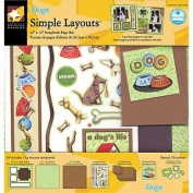 American Traditional Designs 30cm x 30cm Simple Layouts - Dogs