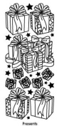 Presents Silver Class A'Peels Scrapbook Stickers