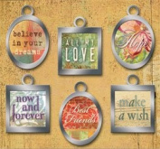 K & Company Basic Grey Metal Art Sentiment Tags-Sublime