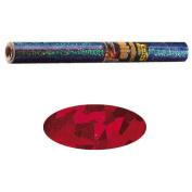 Holographic Mylar- Magic Red 40cm x 100cm Roll