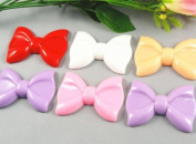 10pc 6.1cm Resin Hair Bow Flatback Button-5 Colours -