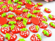 30pcs Small Strawberries the Flat Back the Buttons Scrapbooking Kid 'Sdiycraft