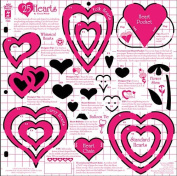 Hot Off The Press - 25 Hearts Template