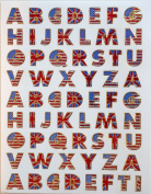 Jazzstick A to Z Alphabet letters Decorative Sticker 10 sheets for scrapbook and decorative