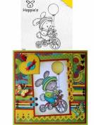 """Ecstasy Crafts Clear Stamps Hoppie """" Biking """""""