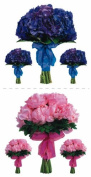 Paper House Productions Photo Real Stickypix Stickers 5.1cm by 10cm , Hydrangea and Peony