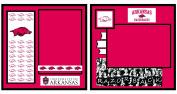 UNIFORMED University of Arkansas 2-Page Layout Decorative Paper, 20cm by 20cm