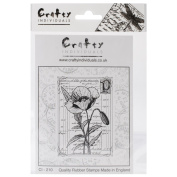 Crafty Individuals Unmounted Rubber Stamp 12cm x 18cm Pkg-Pretty Poppy