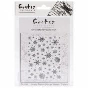 Crafty Individuals Unmounted Rubber Stamp 12cm x 18cm Pkg-Snowflakes Background
