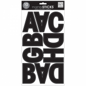 Large Alphabet Stickers 10 Sheets 18cm x 30cm -Euro Mode Black