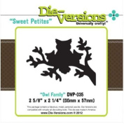 Die-Versions - Sweet Petites - Owl Family Scrapbooking Die Cuts