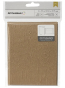 American Crafts Embossed Kraft Cards and A7 Envelopes for Scrapbooking, 11cm by 14cm , Wood Grain