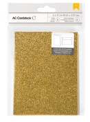 American Crafts Glitter Cards and A7 Envelopes for Scrapbooking, 11cm by 14cm , Sunflower
