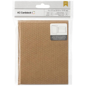 American Crafts Embossed Kraft Cards and A7 Envelopes for Scrapbooking, 11cm by 14cm , Swiss Dots