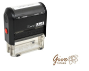 Thanksgiving Rubber Stamp - Give Thanks - Brown Ink