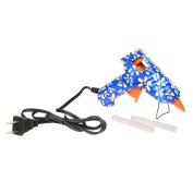Blue Floral Glue Gun