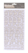 American Crafts Thickers Printed Chipboard Letter Stickers, Fellow Fog