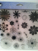 Flower clear stamps