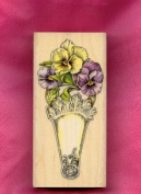 Pansy Fan Rubber Stamp by Cynthia Hart