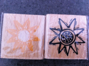 Sunflower Duo Rubber Stamp