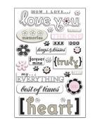 Love You Art Warehouse Epoxy Scrapbook Stickers