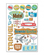 Retro Travel Epoxy Scrapbook Stickers