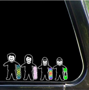 Snowboarding Stick People Family Decals Stickers Car