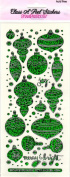 Retro Baubles Green Sparkle Scrapbook Stickers