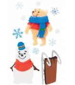 Disney 3-d Stickers - Pooh Snowman