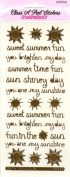 Summer Messages Gold Class A'Peels Scrapbook Stickers