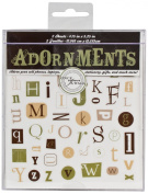 Die Cuts With A View Adornment Alphabet Ransom Peel & Stick, 2 Sheets