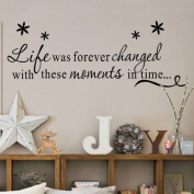 "Toprate(TM) "" Life was forever changed with these moments in time... "" DIY Removable Wall Decal for Living Room Bedroom Quote Vinyl Wall Sticker Art Home Decoration"