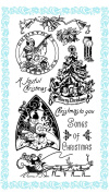 Christmas Songs // Clear stamps pack (10cm x 18cm ) FLONZ
